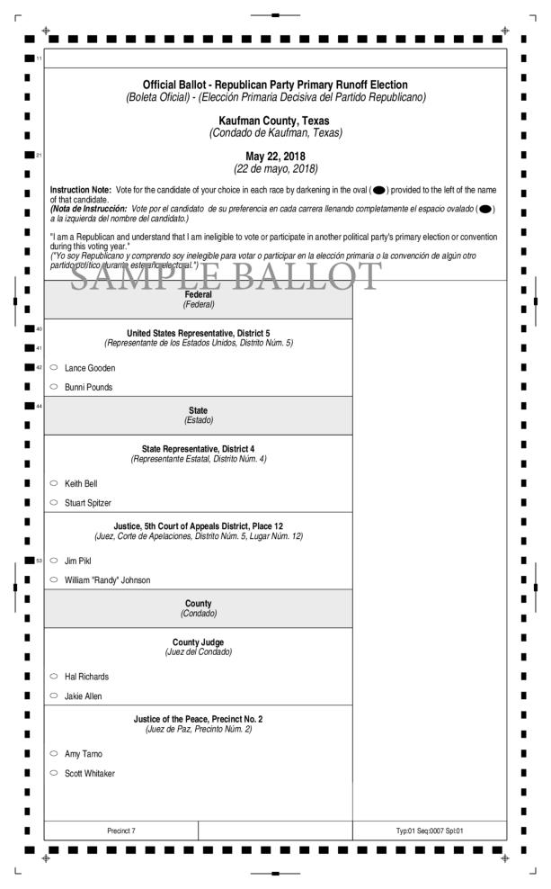 Fifth image of Scott County To Provide Interactive Sample Ballots with Forney Texas Sample Ballot 2018 May 22